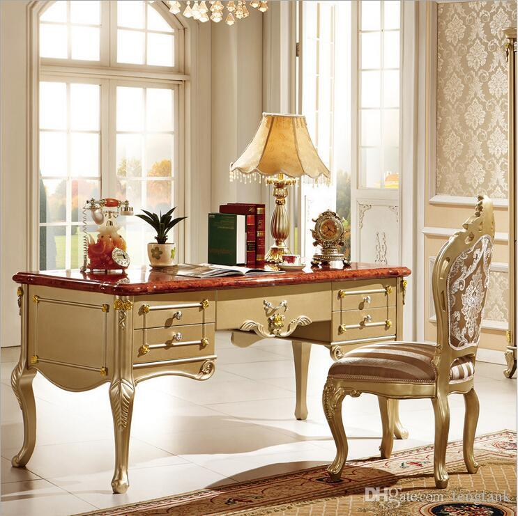 2019 French Baroque Style Luxury Executive Office Desk/ European Classic  Wood Carving Writing Table/ Retro Home Office Furniture Pfy10080 From  Tengtank, ...