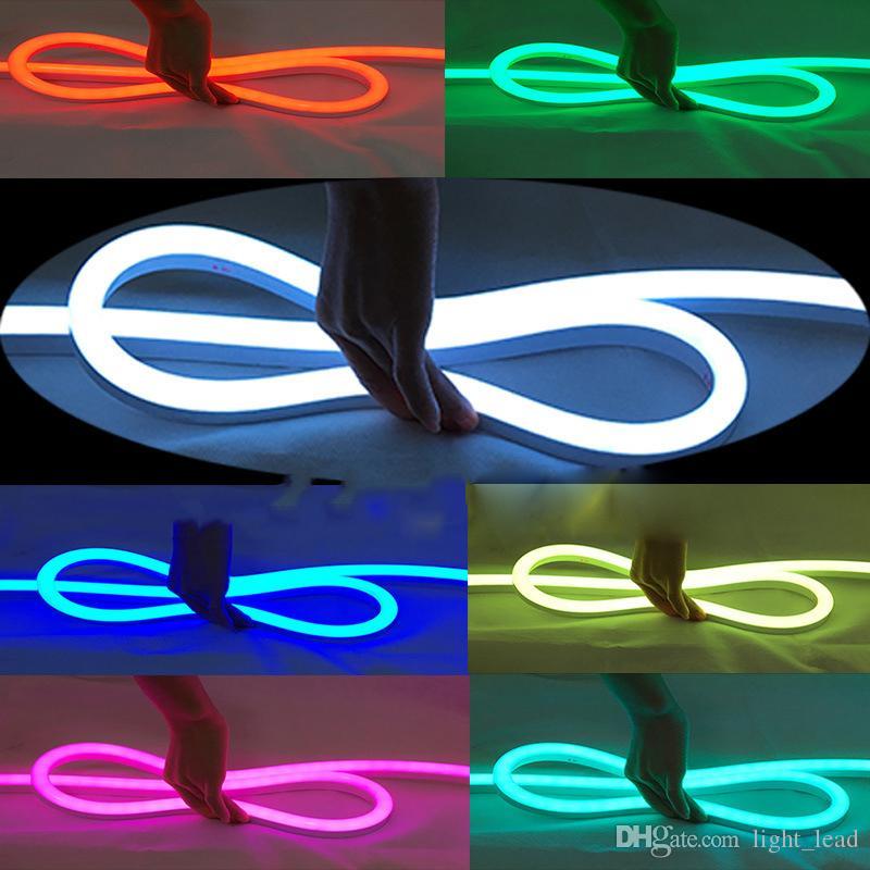 LED Neon Esnek Işık 12 V 2835 SMD 120LED Ultra Parlak Neon Dekorasyon Işareti Için Özelleştirilmiş DIY Led Reklam Neon Flex Burcu