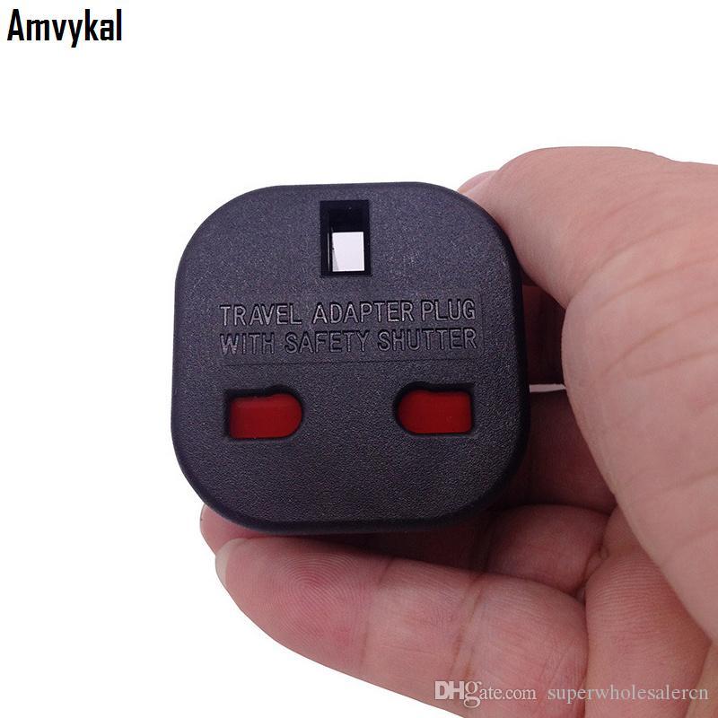 Amvykal Top qualité 9628 Royaume-Uni vers nous UA Branchez l'adaptateur Interrupteur de sécurité Universal Plug Voyage Socket Convertisseur adaptateur électrique Branchez