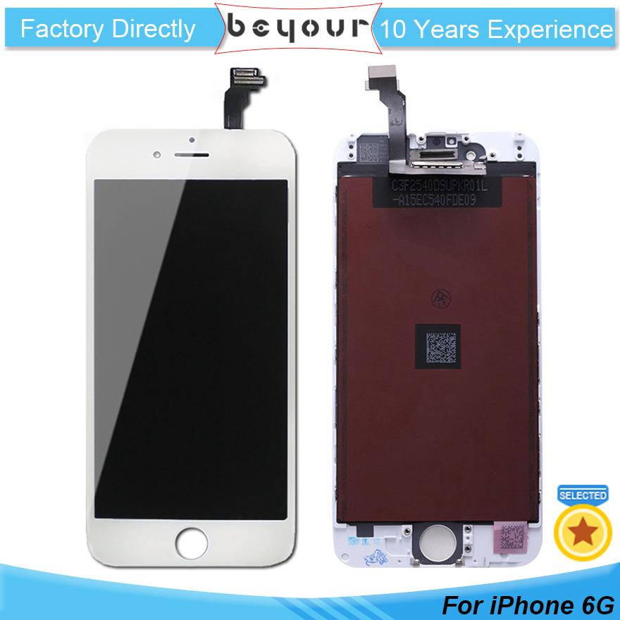 For iPhone 6 LCD Display Touch Screen Digitizer Repair Parts Full Assembly  Black White Replacement Panels White Black