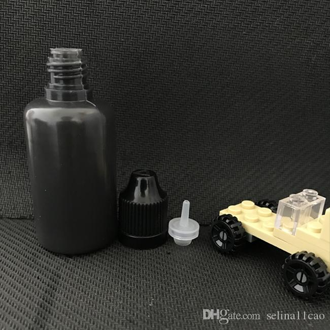PE Eye drop empty black bottles Plastic Unicorn Pinhole Bottles 30ml With screw colors Caps For E Cigarette Liquid Vape Juice