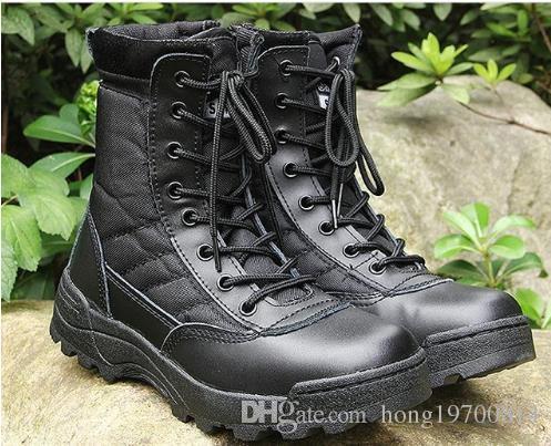 Home Große Größe 37--46 Männer Kampfstiefel Stiefel Schuhe Männlichen Taktik Stiefel Wüste Schuhe Tarnung Militärischer Taktischer Stiefel Sapatos Masculino