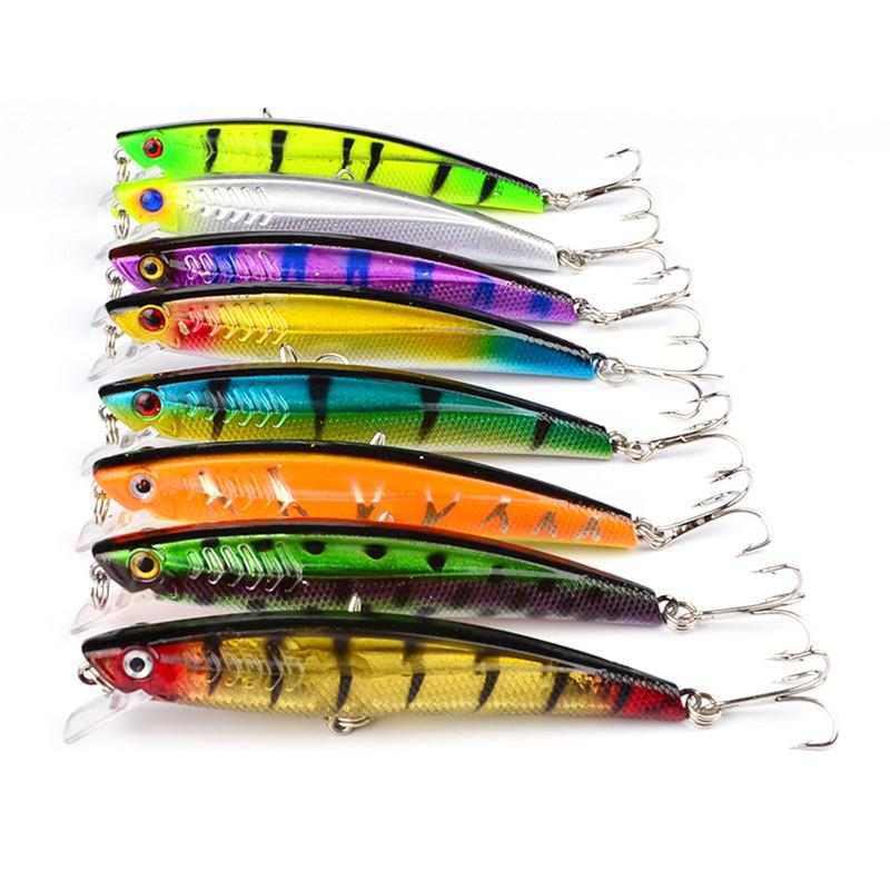 New Plastic Fishing lure Freshwater Minnow baits 10.5g 9cm Wobbler laser Bait with Treble Hooks Fishing Tackle