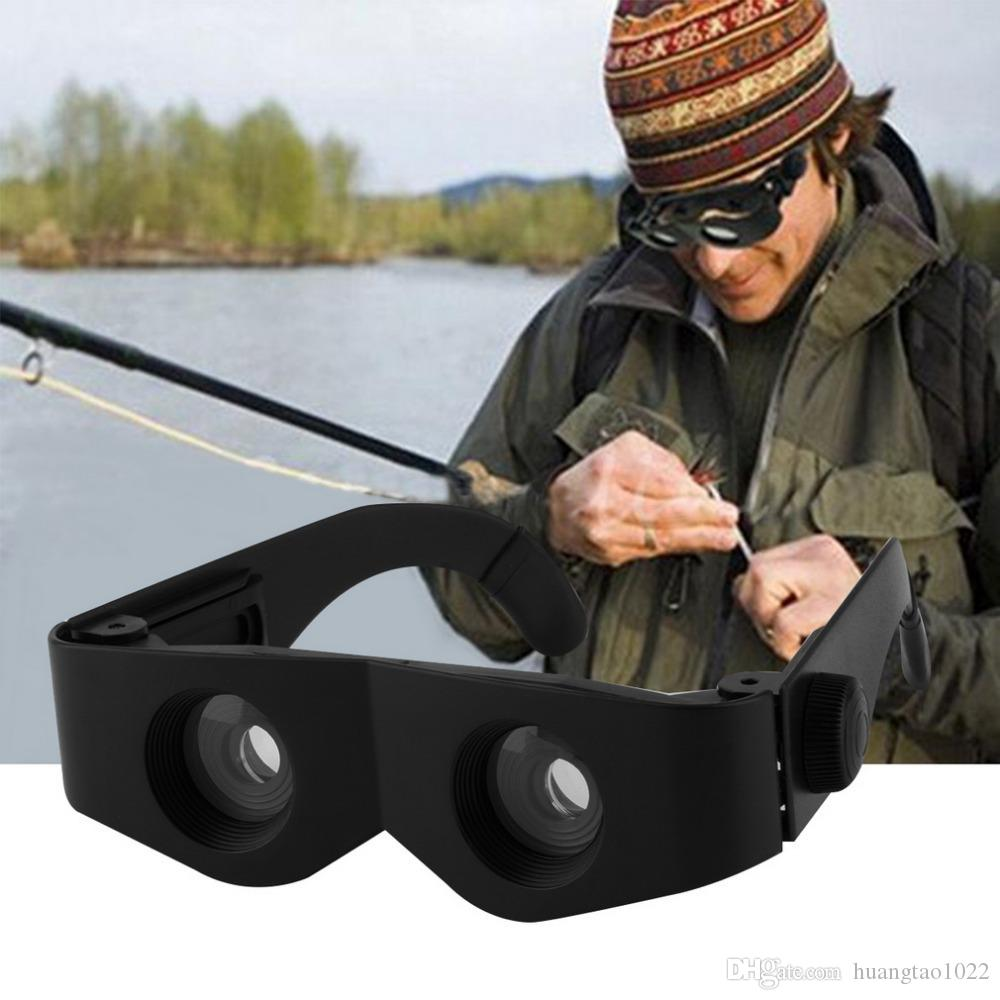 Portable Glass Style Black Telescope & Magnifier For Fishing Hiking Binoculars free shipping