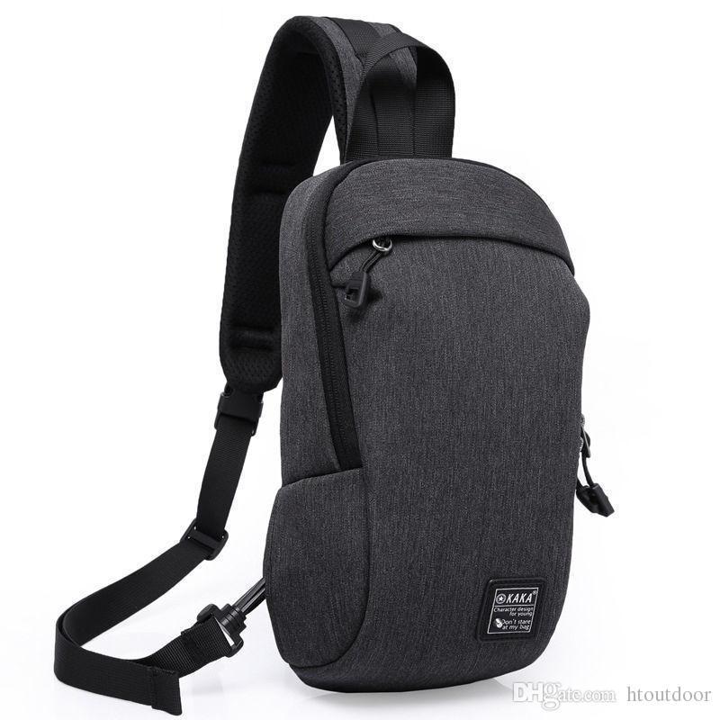 Anti-theft Zipper Design Men Oxford Outdoor Travel Hiking Cross Body Messenger Single Strap Shoulder Bag Back Pack Sling Chest Bag