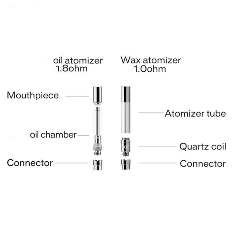 정통 Yocan 하이브 Atomizer 왁스 기화기 오일 카트리지 누설 디자인 탱크 플라스틱 튜브 포장 Clearomizer DHL 무료