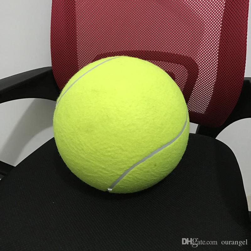 9.5 Inch / 24cm Inflatable Jumbo Tennis Ball For Activity Play Signature Signal - Larger Pets Dogs Children Toys Outdoor Sports Play