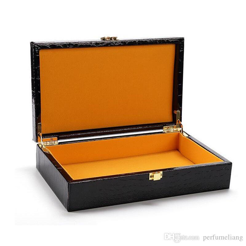 Crocodile Grain Pattern Jewelry Storage Box Necklace Earring Organizer Container Boxes Makeup Case Wholesale ZA4047