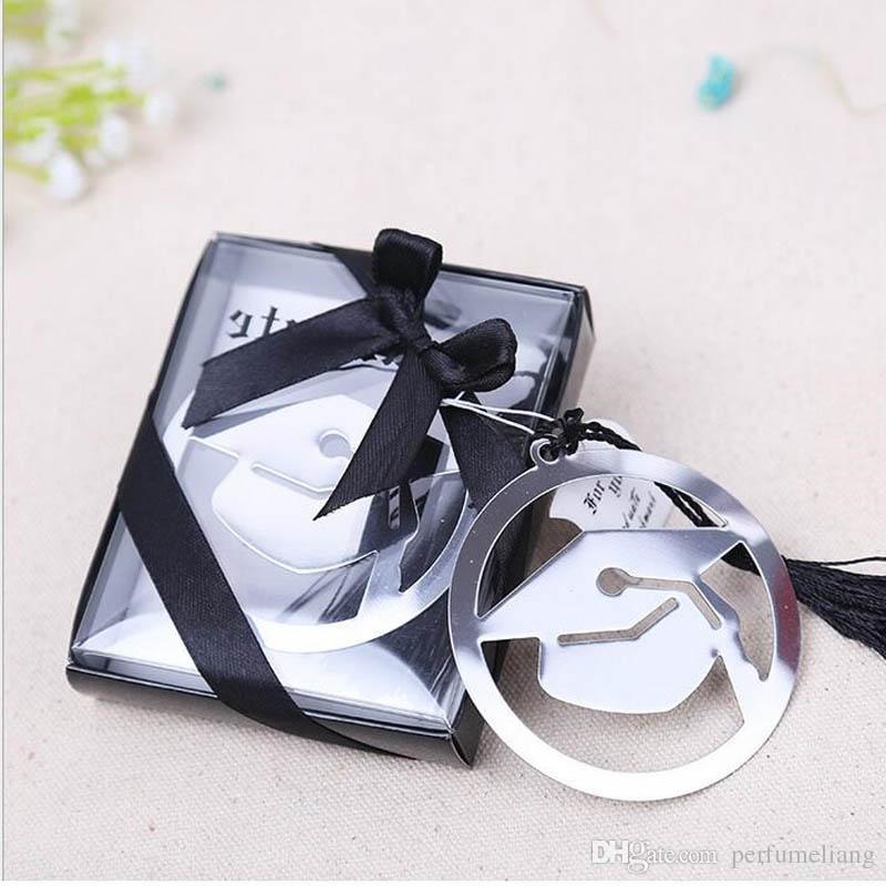 Abschluss-Kappen-Metallbookmark mit eleganten schwarzen Quasten-Partei-Andenken-Absolvent-Partei Faovr-Geschenken für Gast