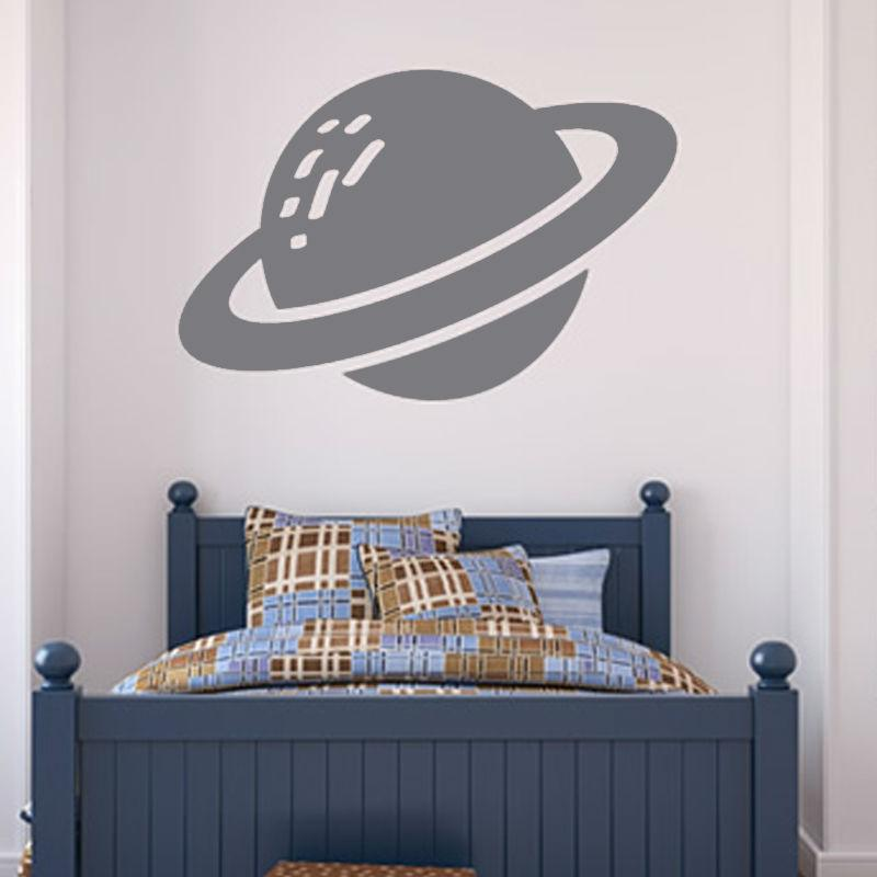 New Arrival Saturn Planet Wall Sticker Kids Room Decoration Hollow