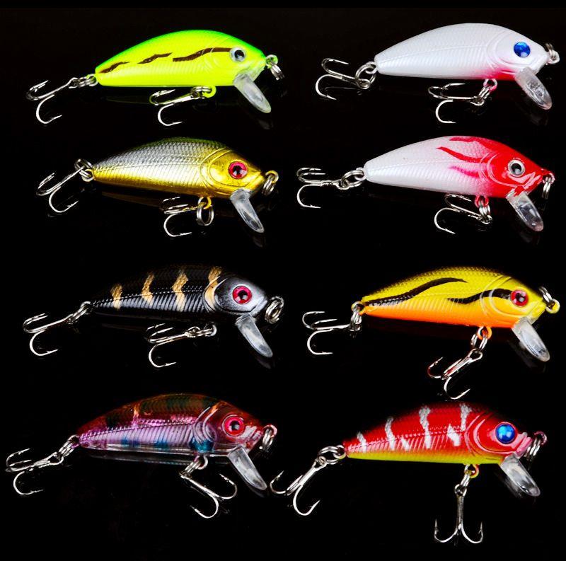 8 Цвет 5см 3.7g Минноу рыболовные крючки Крючки 10 # Крюк Жесткие Приманки Приманки рыболовные снасти B-032