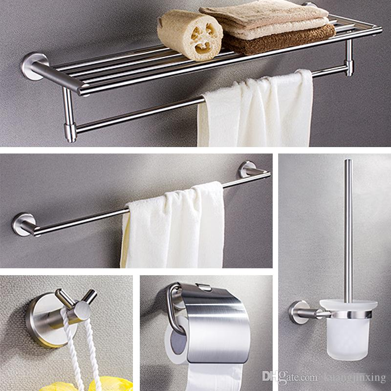 2019 Sus304 Stainless Steel Wall Mount Bathroom Accessory Set Towel