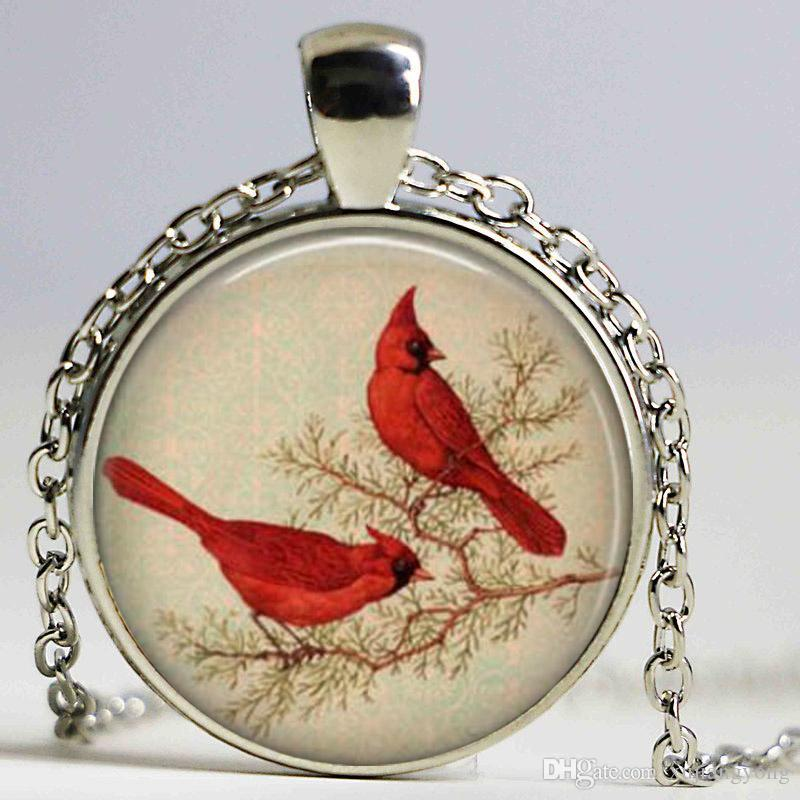 emerald retro wholesale lovers turquoise pendant bronze the birds red necklace jewelry her for bird gift vintage product colar love