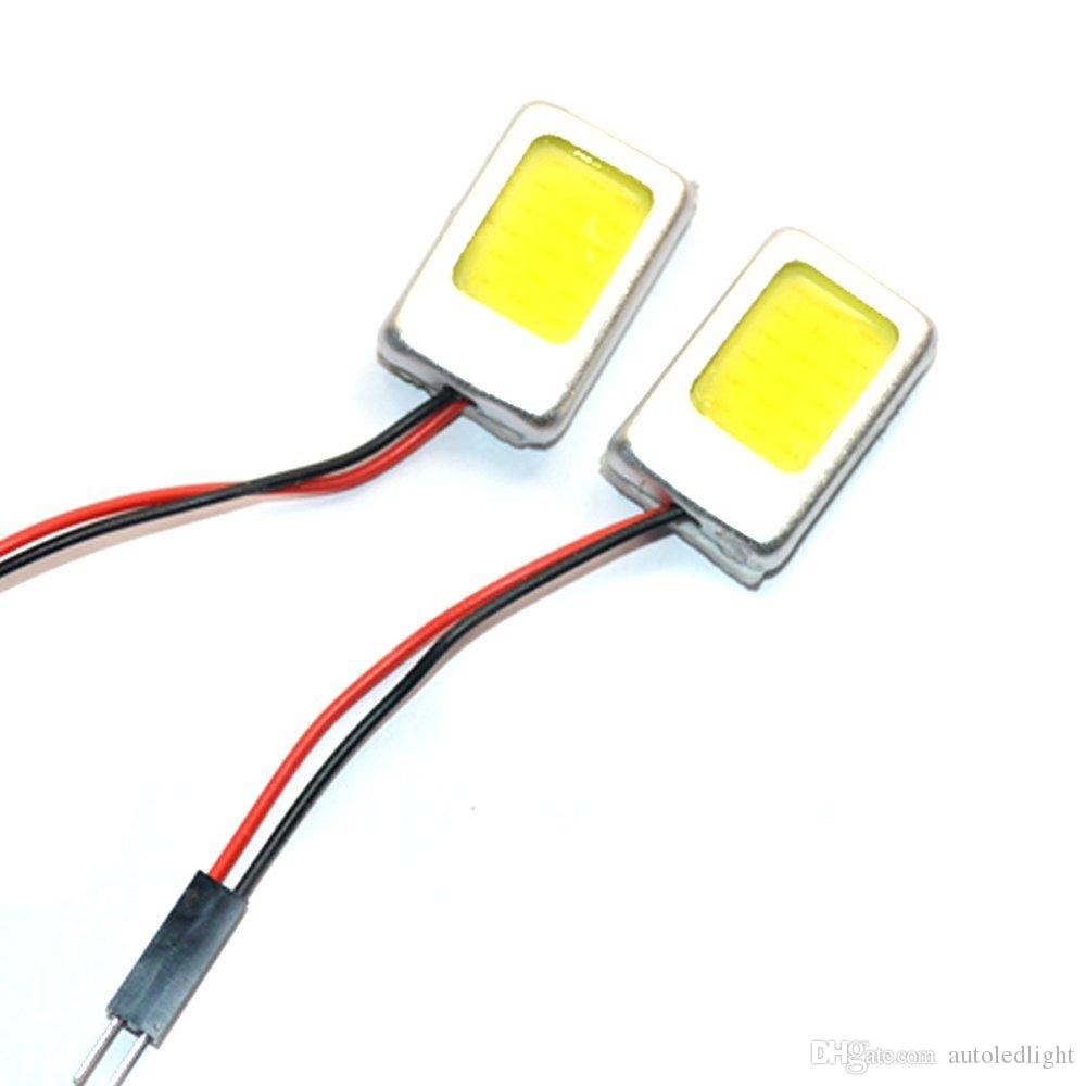 White 18 Chips Constant Voltage COB LED Festoon Dome/Door/Box Light Panel Interior Bulb With T10.