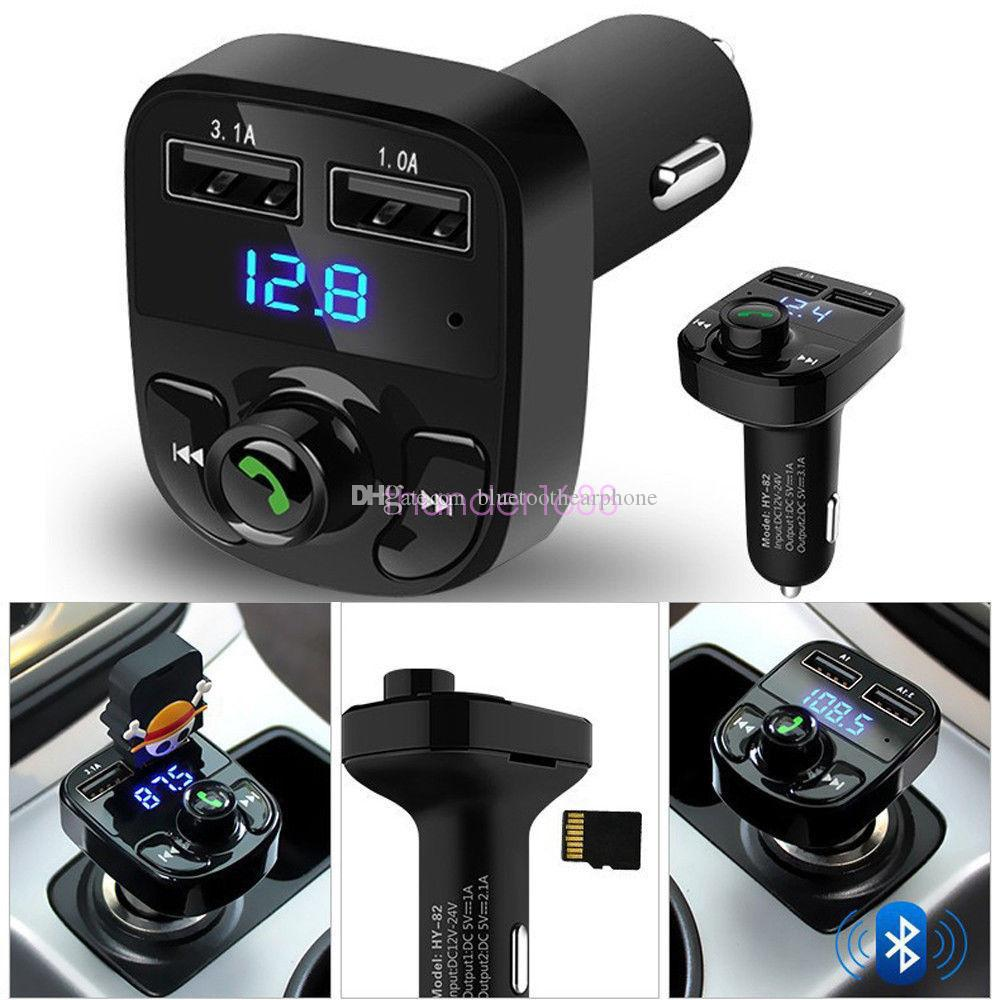 Best car kit handsfree wireless bluetooth fm transmitter lcd mp3 player usb charger for iphone 7 motorcycle bluetooth kit black best bluetooth car