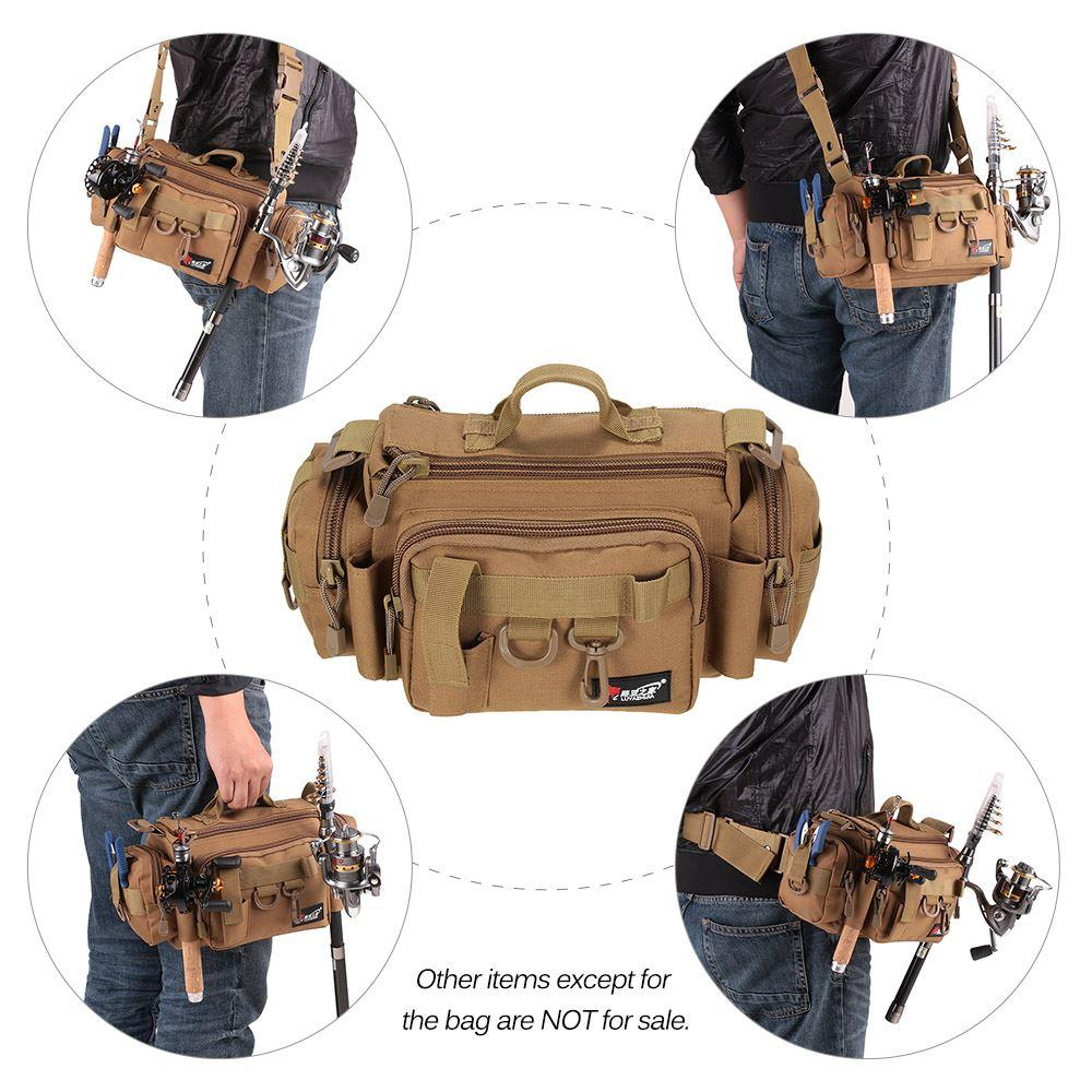 Multifunctional 32*17*17cm Fishing Lure Bag Three Color Selection Waist Shoulder Fishing Lure Reel Tackle Bag Pesca Peche
