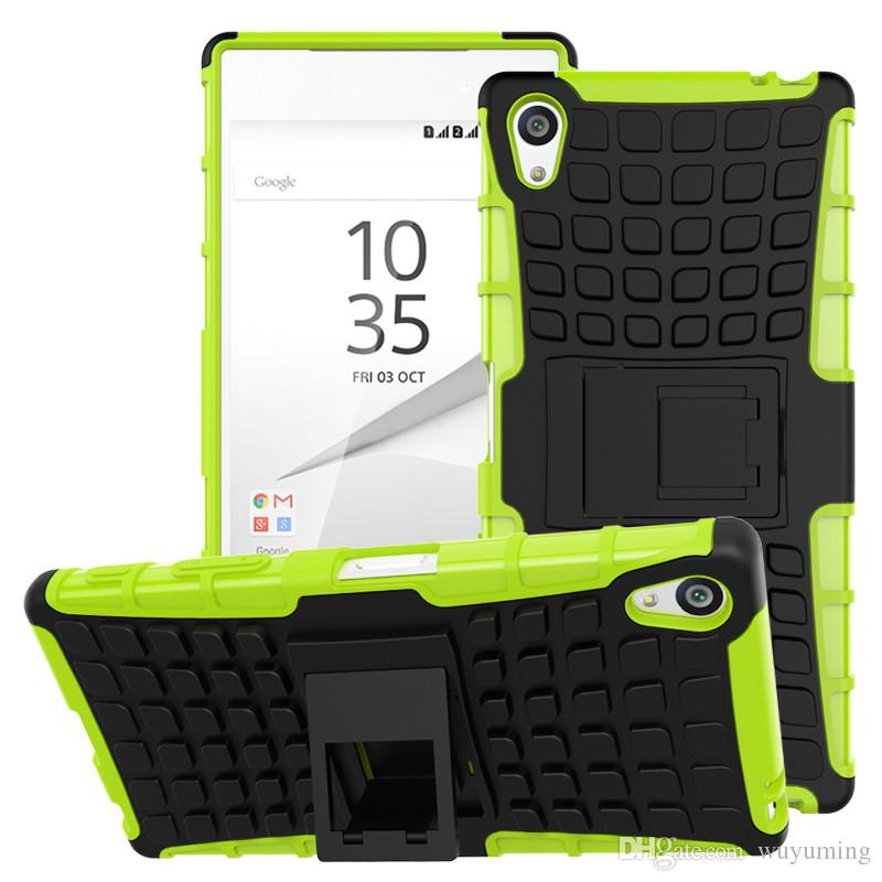 promo code 4a9f5 828c2 (5.5 inch) For Sony Z5 Premium Case E6833 Heavy Duty Shockproof Hybrid Hard  Rugged Rubber Phone Cove For Sony Xperia Z5 Plus