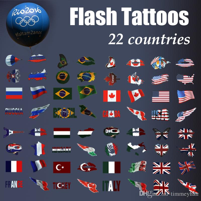 fashion Olympic Flash tattoo football basketball fans country stickers  Temporary Tattoo for sport fans Flag tattoo