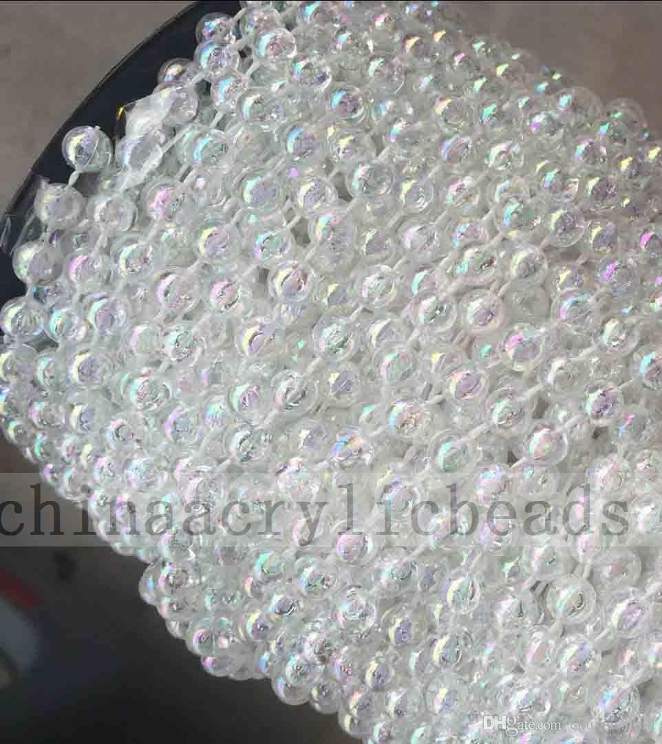 Wholesale Acrylic Clear Round 4mm Beads Strands Garland For Wedding ...