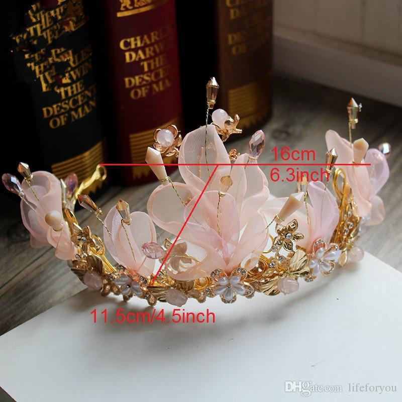 Coronas tiaras con cuentas corona tocados para la boda tocados de boda tocado para la novia vestido tocado accesorios princesa corona