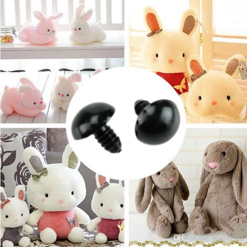 Toy Eyeball Accessories Black White DIY Activity Plastic Eyeballs For Teddy Bear Insect Doll Animal Puppet Crafts 0 04pl I1