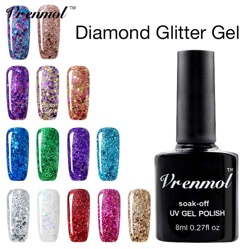 Wholesale Vrenmol Permanen Glitter Diamond Color Change Gel ...