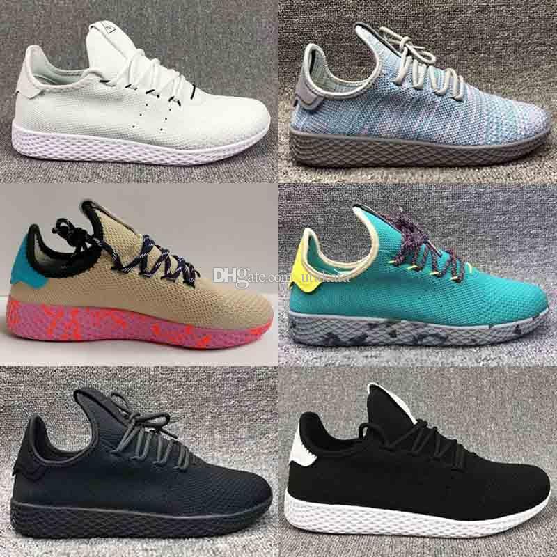 661c80f33f202 Compre Venda Quente Originais Pharrell Williams Tênis Hu Sapatos De  Esportes Barato Rainbow Stan Smith Tênis De Corrida Homem Tênis Tamanho EUA  5 11 De ...