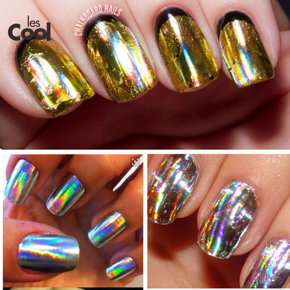 Wholesale 100cmx4cm Nail Foil Gold Silver Laser Glitter Foils Nail ...