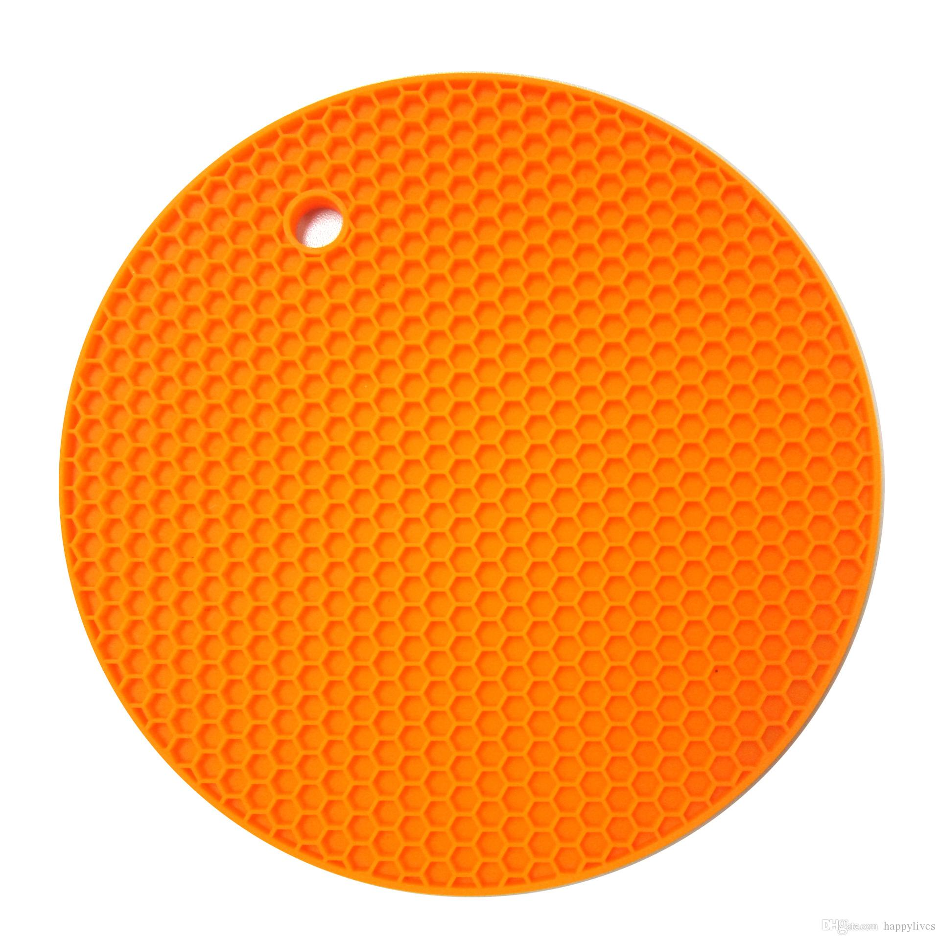 Tabelle Silikon-Auflage Silikon-Anti-Rutsch-Heat Resistant Matte Coaster Kissen Tischset Topflappen Küchenzubehör Kochgeräte