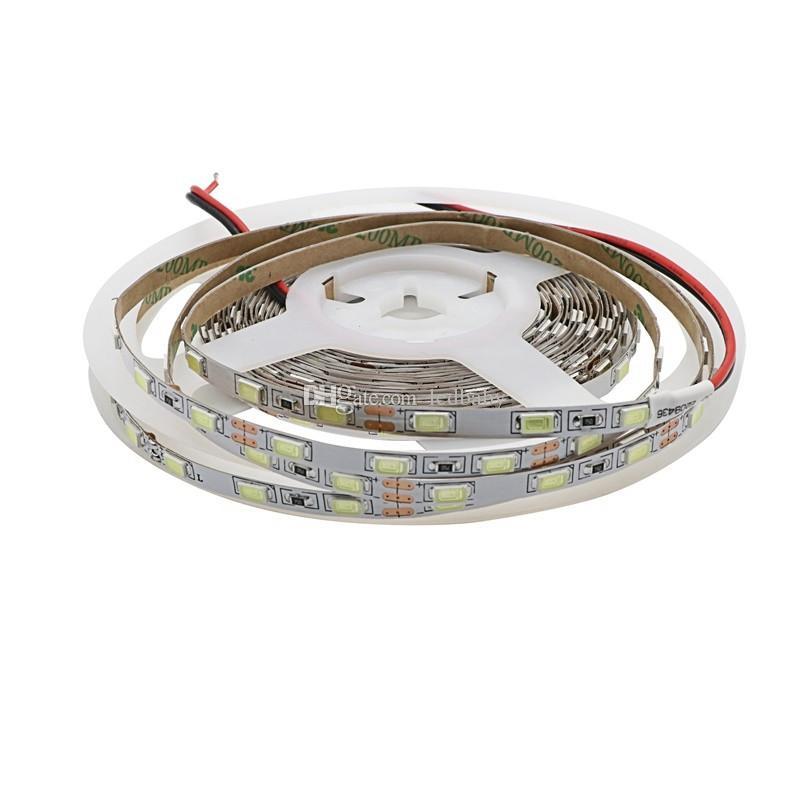 Lado estrecho 5 mm Ancho 5630 SMD Flexible Luz de tira llevada 60led / m DC12V IP20 Lámpara de cinta no impermeable Luz de cadena Blanco X100 metros