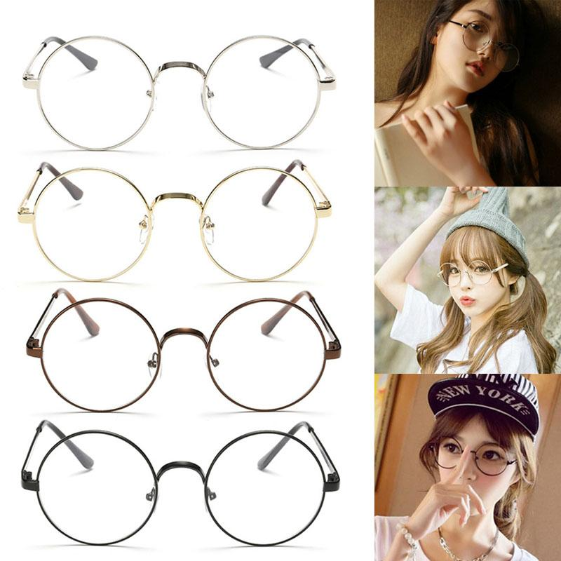 c1198f6ac3 Wholesale- Chic Eyeglasses Retro Big Round Metal Frame Clear Lens ...