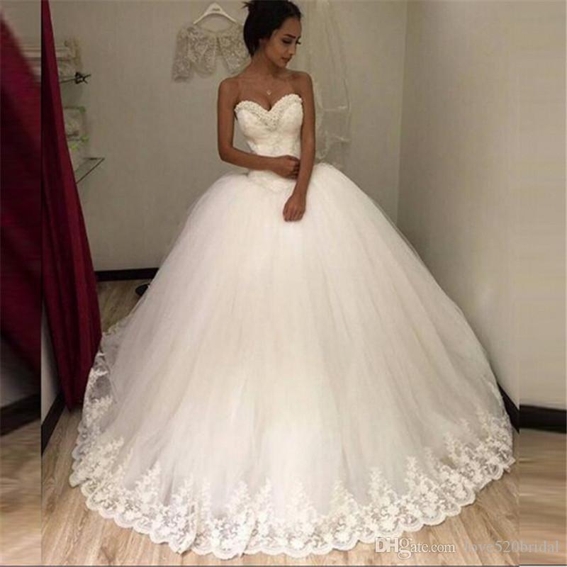 Compre Vestidos De Novia Baratos Hechos En China Vestido Noiva ...