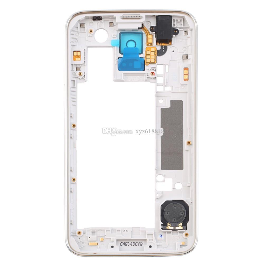 OEM Orta Çerçeve Plaka Çerçeve Kapak Konut Şasi ile Arka Kamera Cam Lens Samsung Galaxy S5 G900 G900A G900T G900P G900 G900F