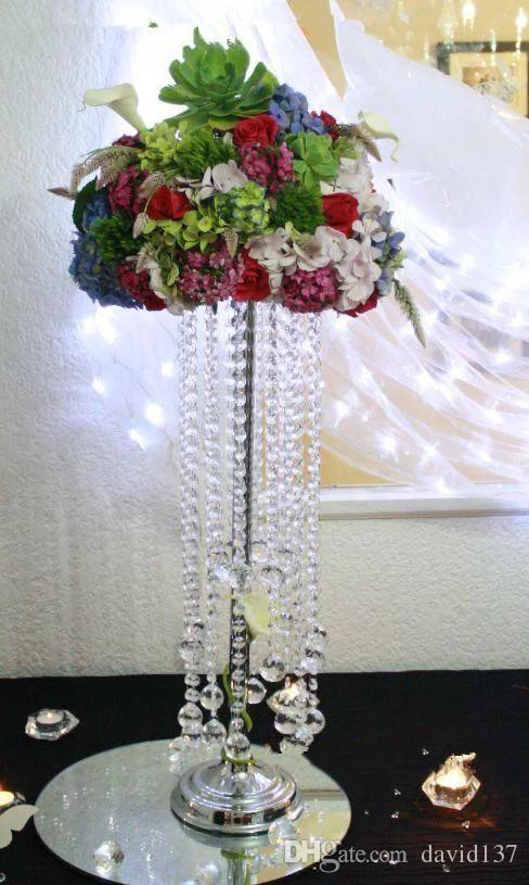 centrais de decoração de casamento de bola de flor artificial