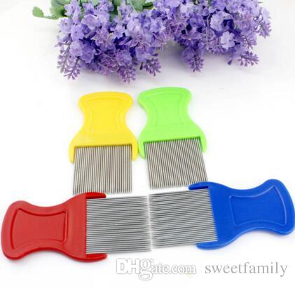 new Pet Dog Cat Clean Comb Brush Dog Hair Grooming Tool Stainless Steel Long Needle Nit Lice Comb Pet Flea Comb Catching Lice
