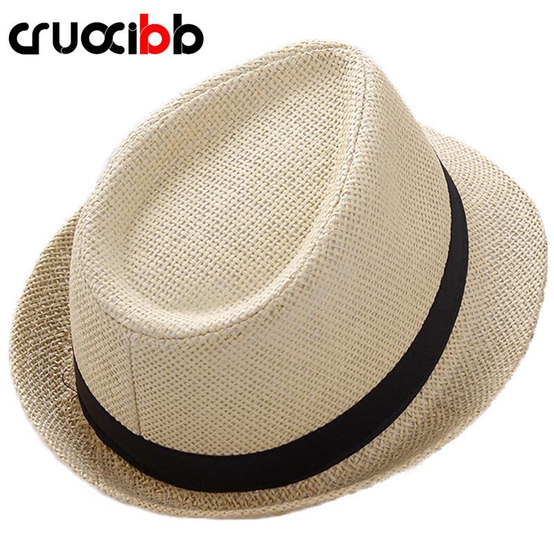 Compre 2017 Moda Unisex Sombrero De Sol Para Hombre Huesos Damas Verano  Sombrero De Paja De Playa Protección UV Papá Cap Ocio Chapeau Panamá Mujeres  A  2.82 ... f630674ab46b