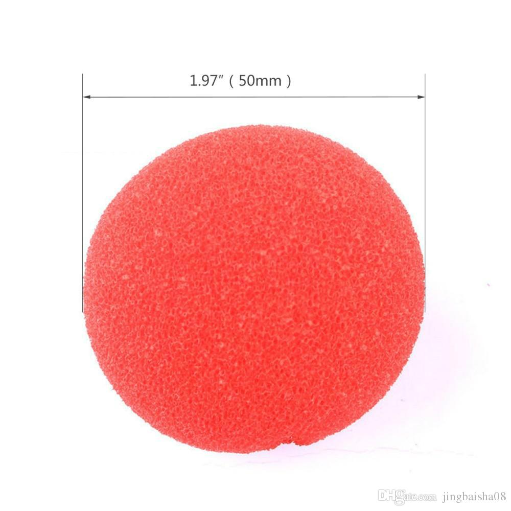 Wholesale Party Sponge Ball Red Clown Magic Nose For Halloween Party Masquerade Christamas Decors Accessory Decors