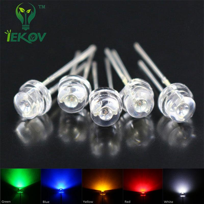 Active Components Free Shipping 1000pcs 5mm Green Straw Hat Light Emitting Diode 5mm White Led Lamp Green Light Led Tube
