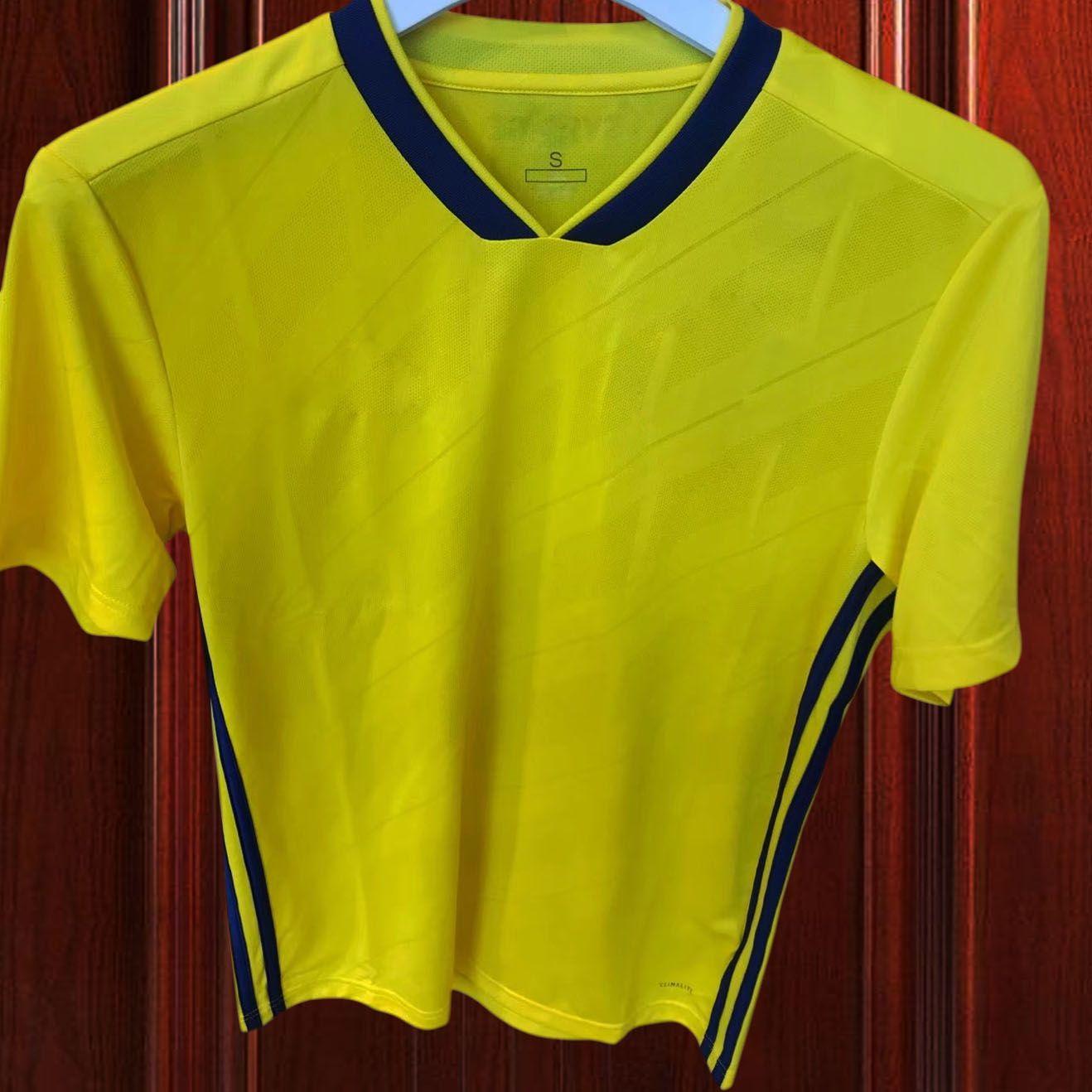 Zlatan Ibrahimovic 2017-18 Sweden Soccer Jersey Sverige Yellow ... cd21d38f1