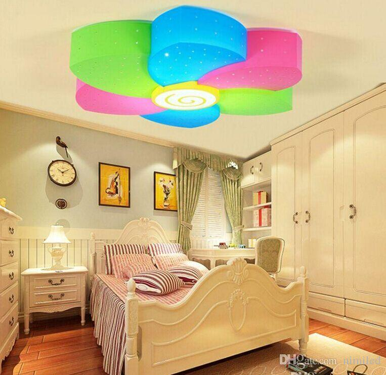 Merveilleux Online Cheap Cute Led Color Plastic Flower Girlu0027S Room Ceiling Light  Cartoon Creative Princess Room Children Bedroom Ceiling Fixtures Llfa By  Nimiled ...