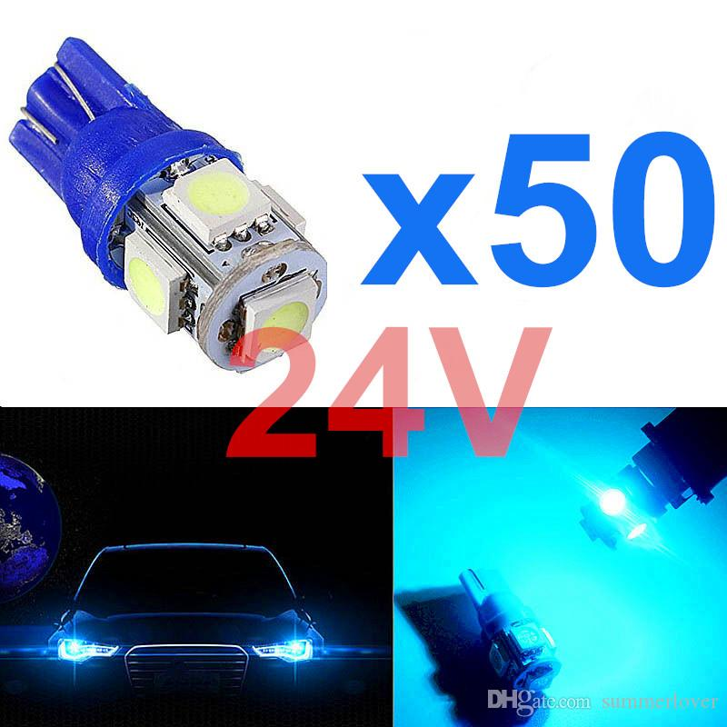 20Pcs Ice Blue T10 W5W 194 168 LED Interior Map Dome Light License Plate Bulbs