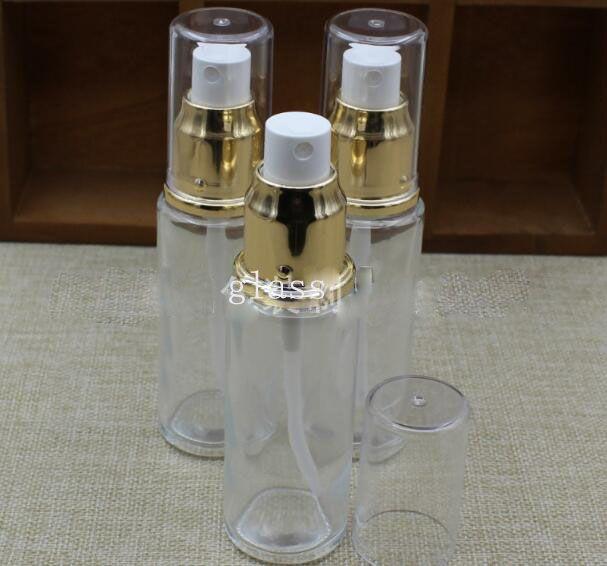 شفافية زجاج العطور البخاخة زجاجة رذاذ صغيرة فارغة 50ML 30ML الندى النقي حاوية المياه مرطب
