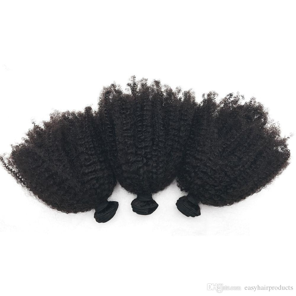 Brazilian Virgin Human Hair Bundles Unprocessed Kinky Curly Hair Extensions No Shedding No Tangle G-EASY