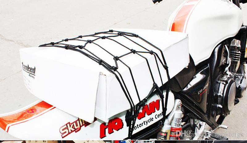 40CM * 40CM Bicicletta da bicicletta Bagagli Net Bagagli Casco Elastico Corda - Moto Net Mesh Twine Blu Giallo Rosso Nero Verde