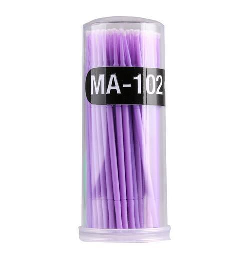 Hot 100 stücke Durable Micro Einweg Wimpernverlängerung Private Label Individuelle Applikatoren Mascara Pinsel Für Frauen schönheit werkzeuge