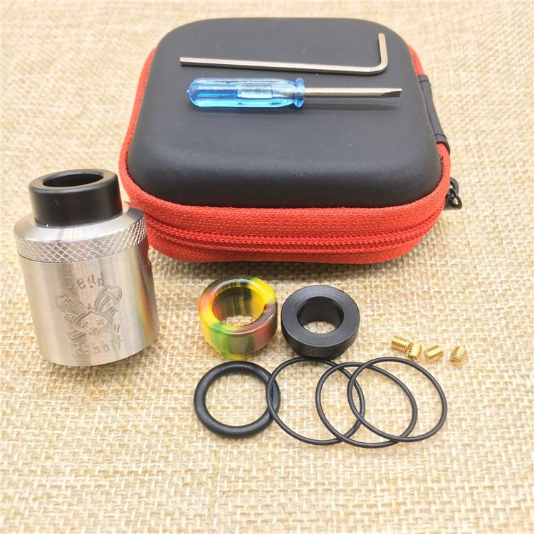 Hellvape Ölü Tavşan RDA klon 24mm Çap Tek veya Çift Bobin Inşa en uygun 510 konu Vape Mods DHL ücretsiz