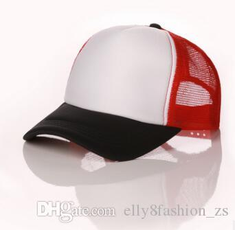 Wholesale Trucker hats Adult and Kids Size adjust Mesh Cap Candy-color baseball hats Curved Brim Snapbacks Femal And Male Wear can DIY logo