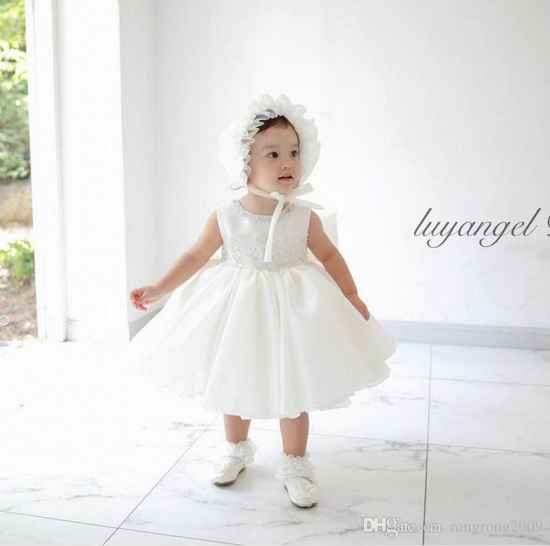 b0bd778a0 2019 2017 Summer Flower Baby Girls Wedding Dresses Lace Christening ...