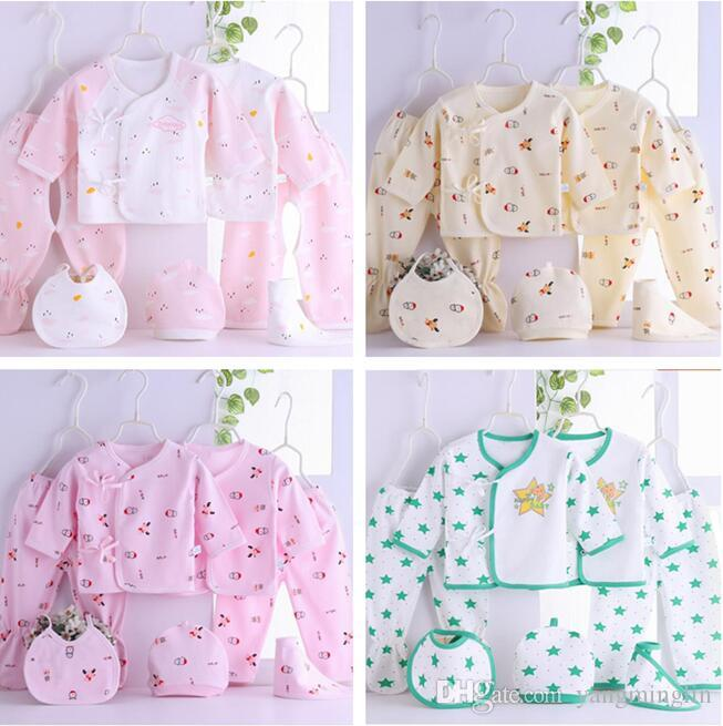 f21f3af582e 2019 Newborn Baby Clothes Set Infant Cartoon Cotton Summer Spring Fall Suit Outfit  Baby   Kids Clothing Outfit Set 0 3M From Yangminglin