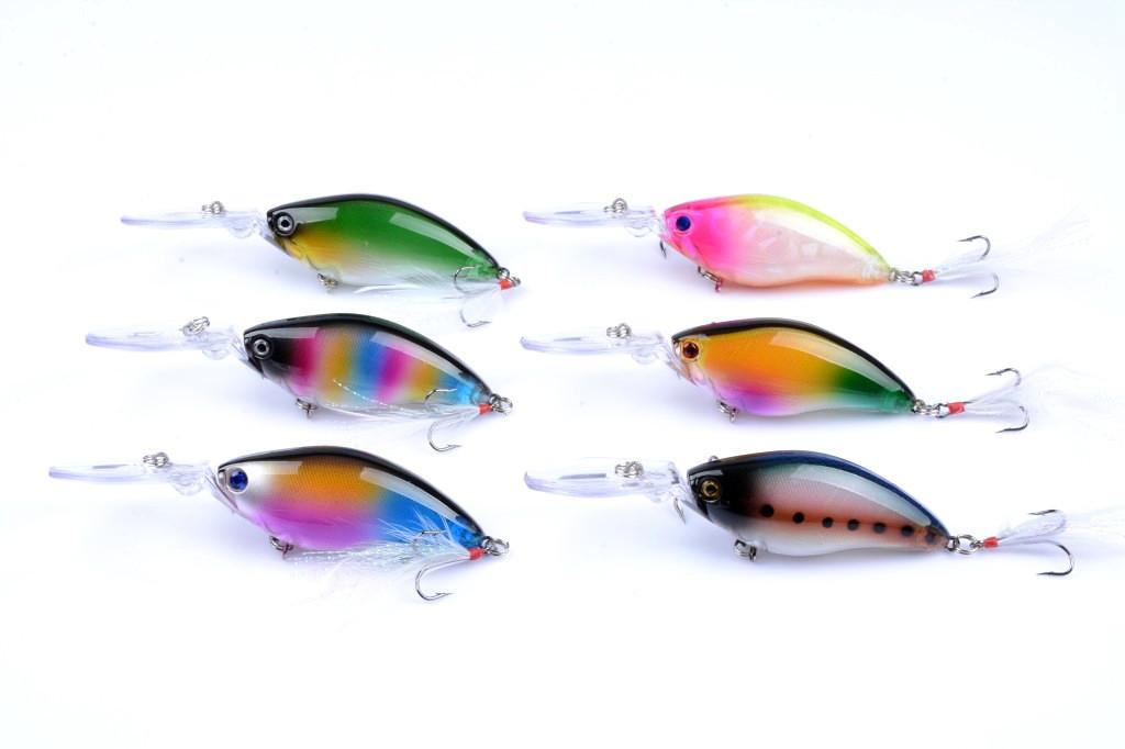 3D Eyes Laser Crank Hard bait Deep Sinking Minnow Plastic lure 11cm 18g Long Lip Wobblers Artificial Fly Fishing lure